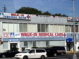 English: Walk-in Medical Care Center in New Yo...