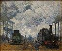 The Gare Saint-Lazare, Arrival of a Train, by Claude Monet, 1877, oil on canvas - Fogg Art Museum, Harvard University - DSC00694.jpg
