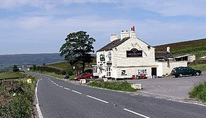 The Grouse Inn on the A624 above Chunal, near ...