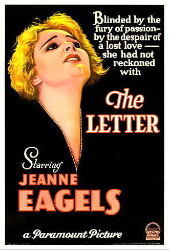 The Letter (1940 film) - Theatrical release poster