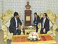 The Minister of State (Independent Charge) for Tourism, Dr. K. Chiranjeevi calls on the Governor of Luang Prabang Province of Lao PDR, Dr. Khampheng Saysompheng, at Luang Prabang City on January 23, 2013.jpg
