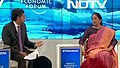 The Minister of State for Commerce & Industry (Independent Charge), Smt. Nirmala Sitharaman at the NDTV World Economic Forum, at Davos, in Switzerland on January 19, 2017.jpg