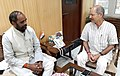 The Minister of State for Home Affairs, Shri Hansraj Gangaram Ahir calling on the Minister of State for Environment, Forest and Climate Change (Independent Charge), Shri Anil Madhav Dave, in New Delhi on September 22, 2016.jpg