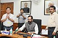 The Minister of State for Minority Affairs (Independent Charge) and Parliamentary Affairs, Shri Mukhtar Abbas Naqvi launching the revamped website (bilingual) of the Ministry of Minority Affairs, in New Delhi.jpg