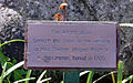 The Plaque beside the grave of Meg.Shelton. Photograph by Brian Young 2011.jpg
