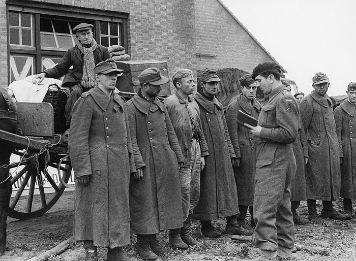 German POWs interrogated by a Lieutenant of the 1st Polish Armoured Division during the campaign to take Breda which they liberated on 29 October 1944 The Polish Army in the North-west Europe Campaign, 1944-1945 HU108866.jpg