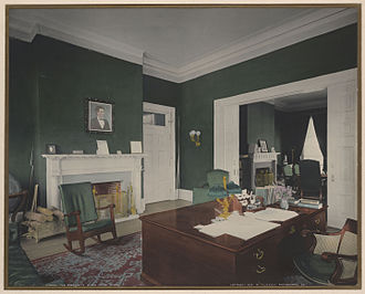 A. H. Davenport and Company - Theodore Roosevelt desk in the Executive Office, 1904.