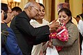 The President, Shri Ram Nath Kovind launching the Pulse Polio Programme by Administering Polio Drops to Children, at Rashtrapati Bhavan, in New Delhi (1).jpg