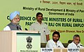 The Prime Minister, Dr. Manmohan Singh addressing the Conference of State Rural Development Ministers, in New Delhi on September 09, 2009.jpg