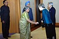 The Prime Minister, Dr. Manmohan Singh and his wife Smt. Gursharan Kaur with His Majesty the Emperor Akihito and Her Majesty the Empress Michiko of Japan, in Tokyo, on October 22, 2008 (1).jpg