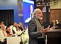 The Prime Minister, Shri Narendra Modi addressing the First PIO Parliamentarian Conference, in New Delhi on January 09, 2018.jpg