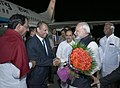 The Prime Minister, Shri Narendra Modi departs from Hyderabad after attending the Annual Conference of DGsIGs of Police.jpg