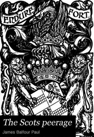 The Scots Peerage - Image: The Scots Peerage book cover