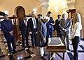 The Vice President, Shri M. Hamid Ansari at the Institute of Ancient Manuscripts, in Yerevan, Armenia on April 26, 2017 (2).jpg