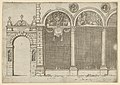 The arcade of the palace of the Archbishop of Bologna with temporary decorations for the entry of Pope Clement VIII in Bologna in 1598 MET DP837827.jpg