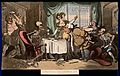 The dance of death; the glutton. Coloured aquatint by T. Row Wellcome V0042012.jpg