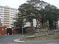 The entrance to Baxtergate, Pontefract, with Horsefair Flats in the background. - geograph.org.uk - 246526.jpg