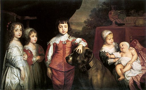 The five children of Charles I, after Van Dyck