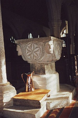 Altarnun - The Norman font