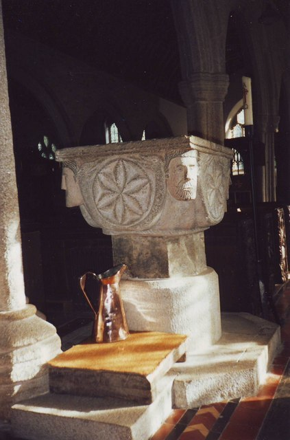 The font in St Nonna's, Altarnun - geograph.org.uk - 1593217