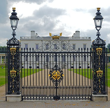 The gate in front of the Queen's House. Greenwich, UK.jpg