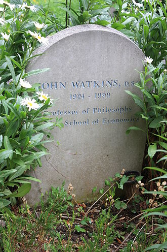 John W. N. Watkins - The grave of John Watkins, Highgate Cemetery, London