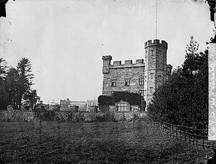 The terraces, Castell Deudraeth, Penrhyndeudraeth