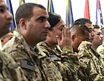 Thirty one deployed servicemembers earn US citizenship at Bagram Air Field 121102-A-RW508-013.jpg