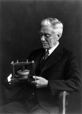 Thomas A. Watson - Watson in his later years, holding Bell's original telephone