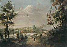 Thomas Watling - A Direct North General View of Sydney Cove, 1794.jpg