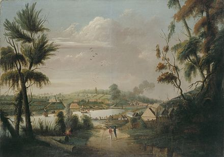 Convict artist Thomas Watling's A Northward View of Sydney Cove, 1794 Thomas Watling - A Direct North General View of Sydney Cove, 1794.jpg