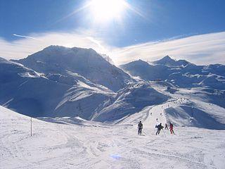 Les Trois Vallées Ski resort in France