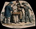 Three lecherous men gather round a pretty street seller, adm Wellcome V0019440.jpg