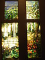 Tiffany's stained glass wooden panels.JPG