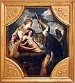 Tintoretto, tavole per un soffitto a palazzo pisani in san paterniano a venezia, 1541-42, latona trasforma i contadini della licia.jpg