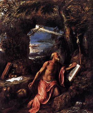 Saint Jerome in Penitence (Titian, 1575) - Image: Titian St Jerome WGA22839