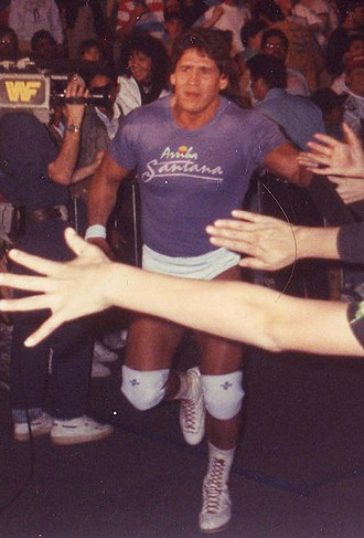 Tito Santana - Santana making his way to the ring in the late 1980s
