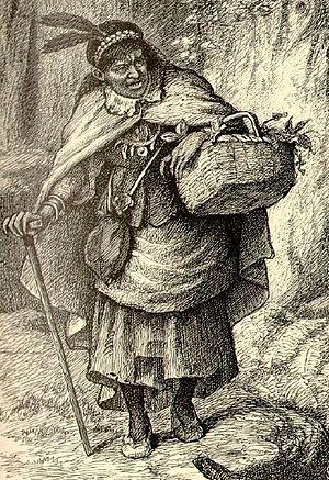 Tituba - Illustration of Tituba by John W.   Ehninger, 1902