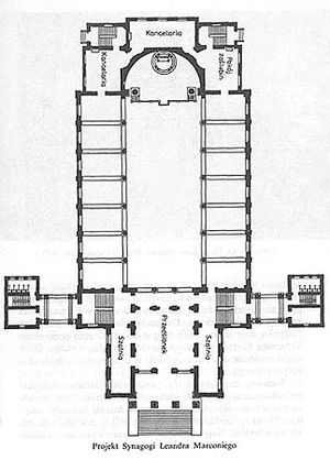 Great Synagogue, Warsaw - Image: Tlomackie synagoga 03