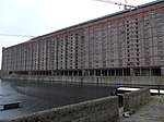 Tobacco Warehouse On South Side Of Stanley Dock Stanley Dock Liverpool Merseyside England UK - North Side from West.jpg