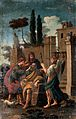 Tobias curing the blindness of Tobit, with Anna and Raphael. Wellcome V0018411.jpg