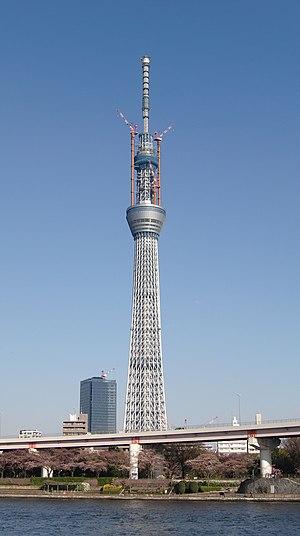 English: Tokyo Sky Tree from Hanakawado França...