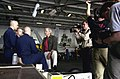 Tom Brokaw records an interview with US Navy Sailors.jpg