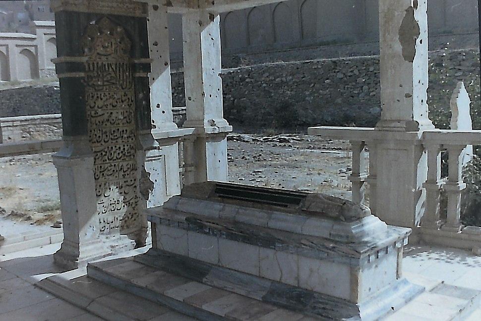 Tombstone of Babur
