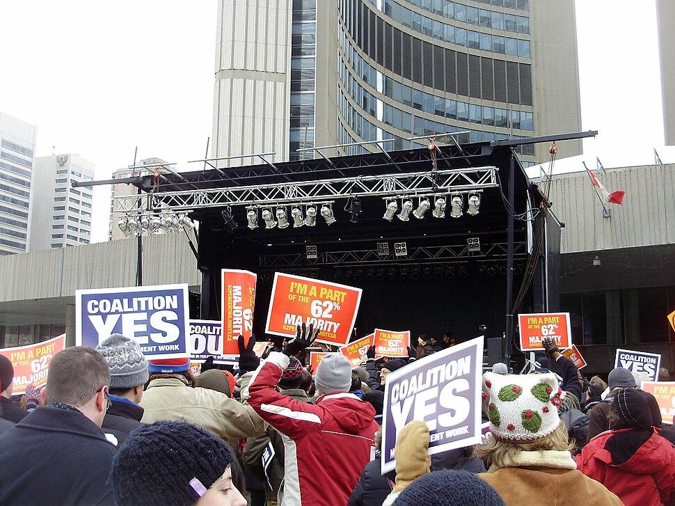 Toronto Coalition Rally 120608