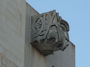 Torre do Tombo National Archive - One of the gargoyles designed by José Aurélio
