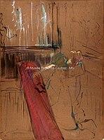 Toulouse-Lautrec - EN HAUT DE L'ESCALIER DE LA RUE DES MOULINS ON MONTE, 1893, MTL.159.jpg