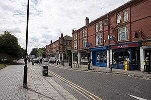 Village tram stop - Trafford Park Village