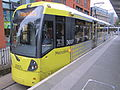 Tram 3007 at Piccadilly Gardens.JPG