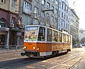 Tram in Sofia near Palace of Justice 2012 PD 045.jpg